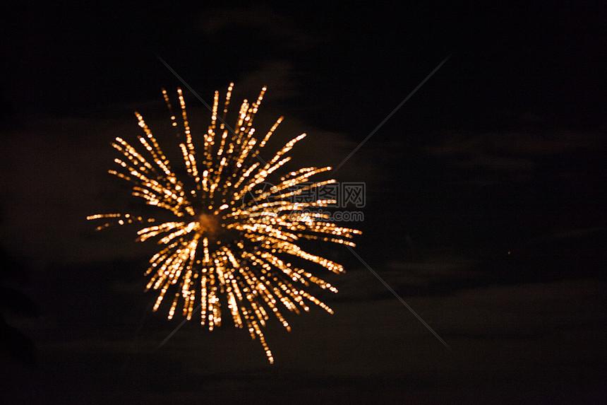 新年放烟火图片