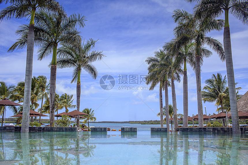 五星酒店游泳池图片