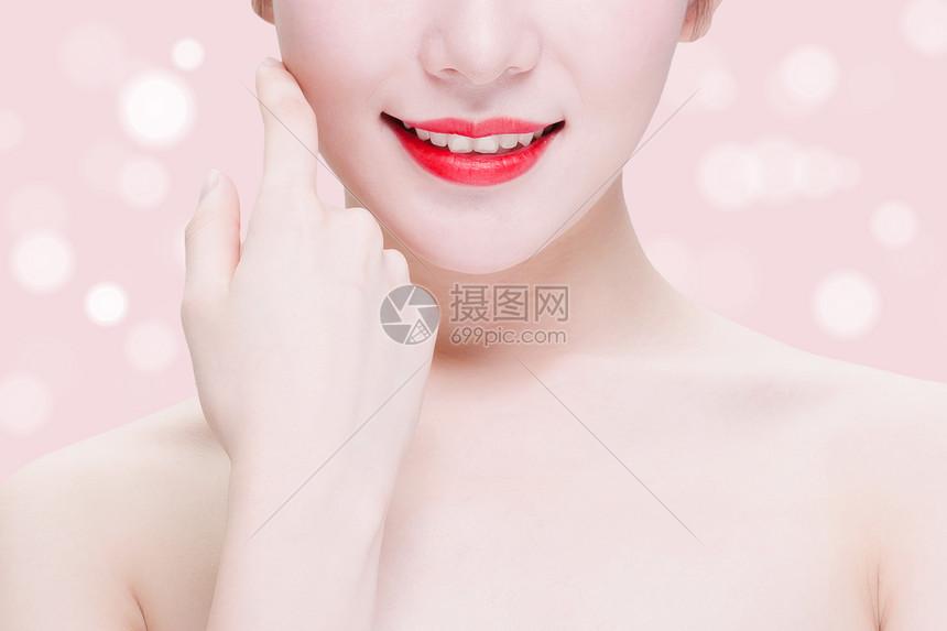 唯美美容海报背景图片