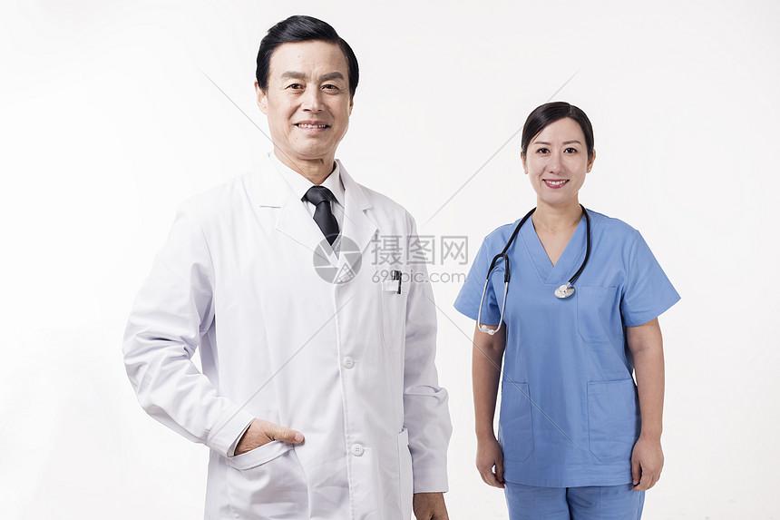 医护人员形象照底图图片
