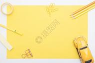 黄色系静物俯拍图片