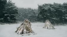 抚顺萨尔浒景区冬季下雪天美景图片