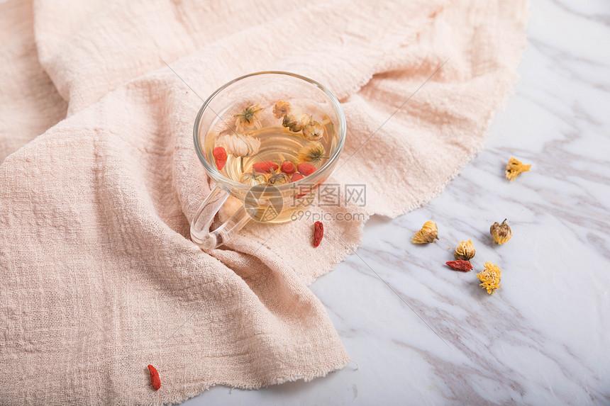 菊花枸杞茶图片