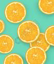 切片橙子图片