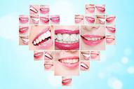 创意牙齿心形图片