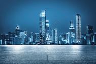 城市夜晚地面背景图片