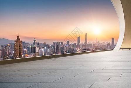 城市大楼大阳台背景图片