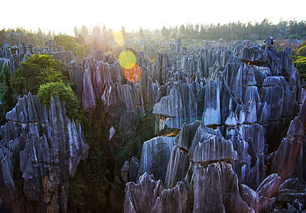云南石林石山图片