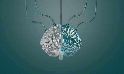 大脑医学海报背景图片