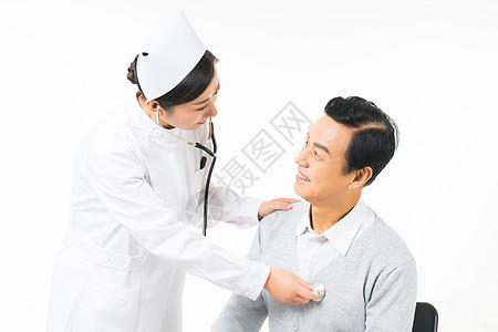 护士病人患者检查图片