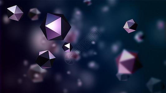三维感彩色科技背景图片