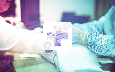 测血压医疗背景图片