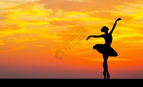唯美芭蕾舞剪影图片