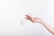 美容形体手部护肤动作特写图片
