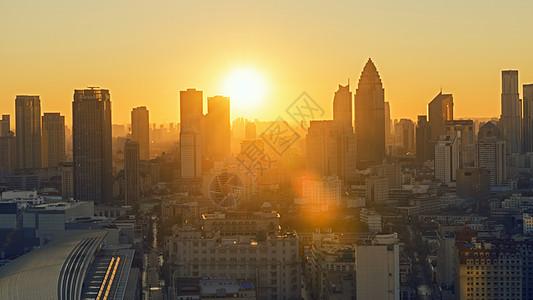 城市日出图片