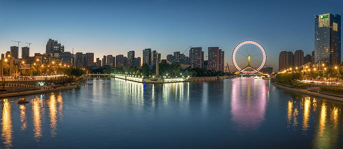 天津海河三岔河口全景图片