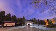 北京香山公园星空夜景图片