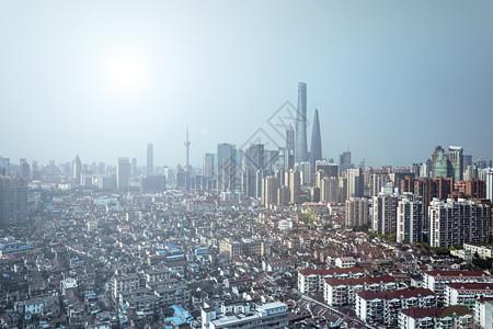 上海陆家嘴地标建筑城市天际线图片