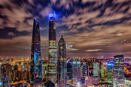 上海陆家嘴地标建筑夜景图片