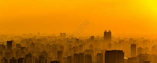 城市日落图片