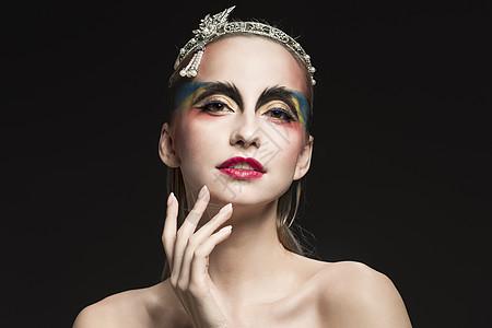 外国美女创意彩妆展示图片