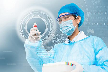做实验的科研人员图片