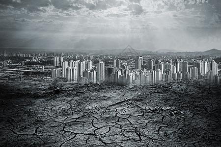 干旱的城市图片