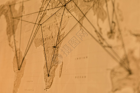 世界地图局部特写图片