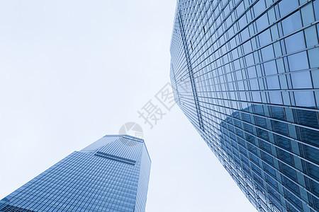城市建筑高楼大厦仰拍图片