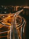 夜景高架桥图片