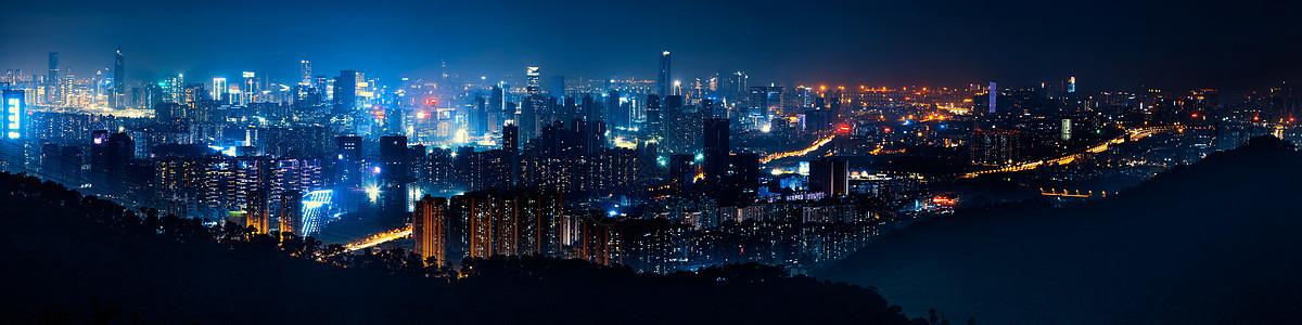 深圳城市夜景全景图片