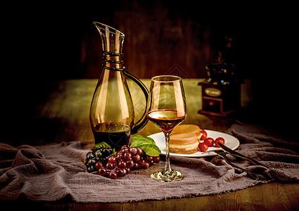 葡萄红酒西餐图片