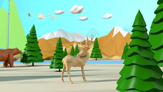3D清新背景图片