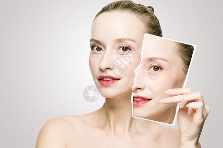 女性衰老对比图片