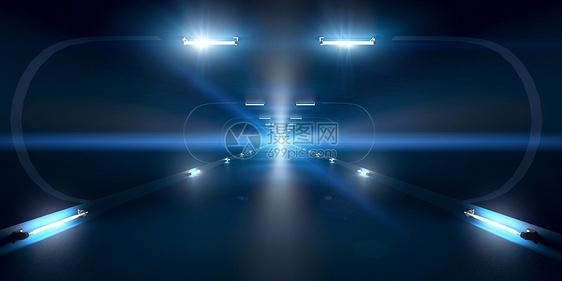 科技光效隧道图片