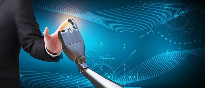 触碰未来科技背景图片