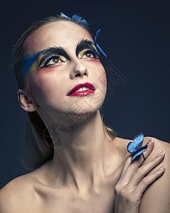 外国美女美妆人像图片