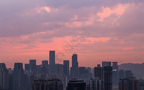 城市的朝霞图片