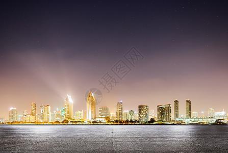 城市夜景地面背景图片