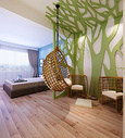 现代休闲区效果图图片