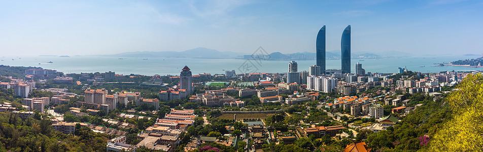 福建厦门城市天际线图片