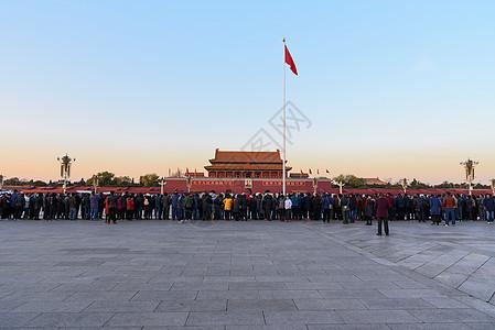 天安门广场国旗图片