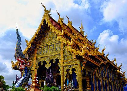 泰国清莱蓝庙图片