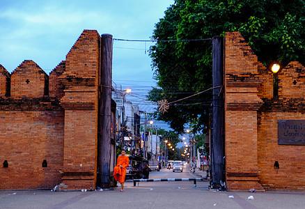 泰国清迈塔佩门图片