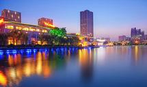 聚龙湖夜色图片