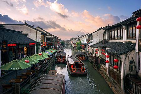 水墨江南苏州山塘街图片