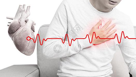 心脏病发作的概念图片
