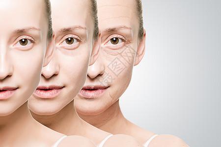 女性衰老过程图片
