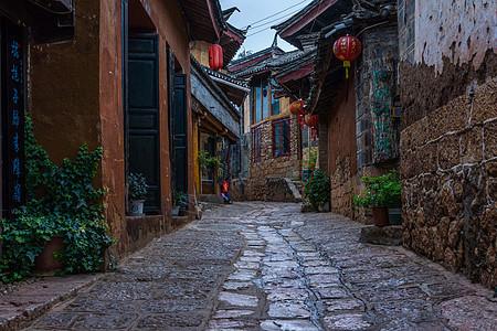 云南丽江束河古镇小巷图片