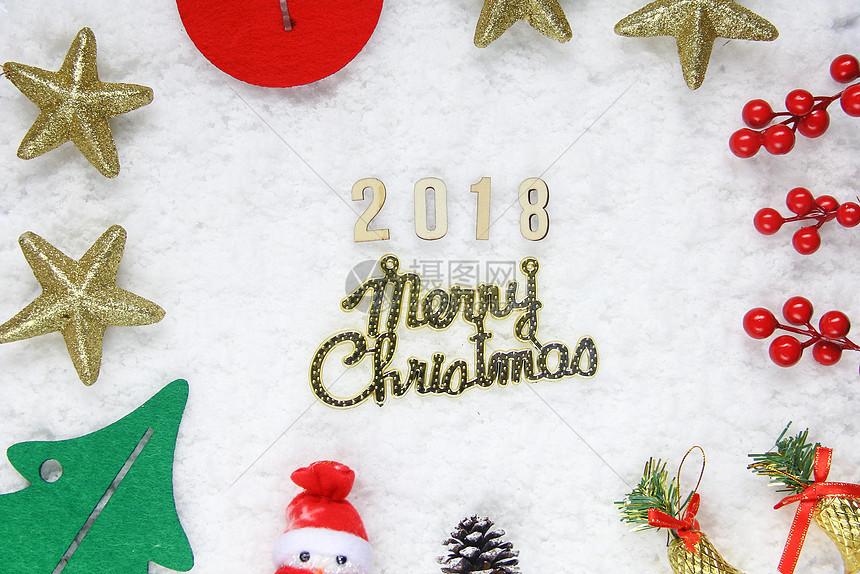圣诞节雪地简约背景图图片